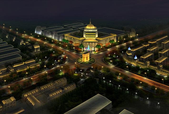 临沂市照明处改造提升城区清水湾沿河照明景观
