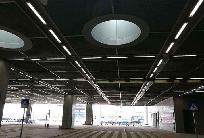 LED三防灯安装澳门停车场工程案例