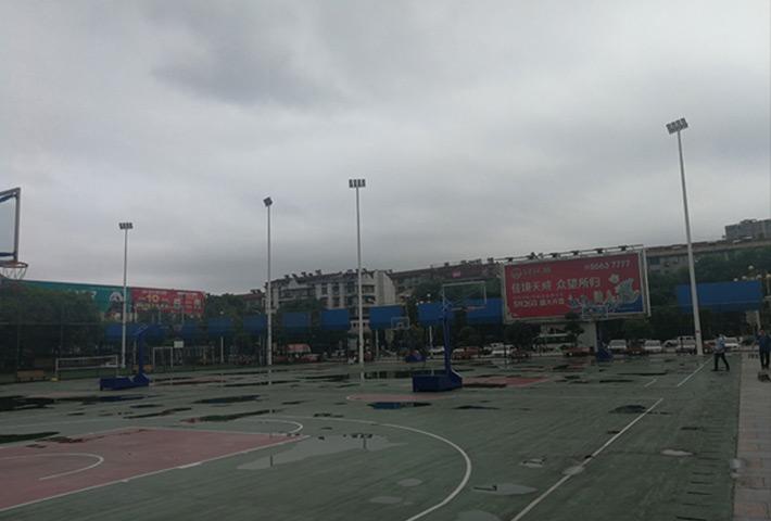 LED篮球场灯工程案例-湖北省江夏体育馆