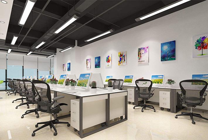 梅州长条灯厂家:办公空间的照明可以选很多种灯